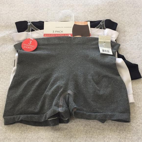 XL Black//White Gray Black Beige L Marilyn Monroe Seamless Shaping Shorts S M